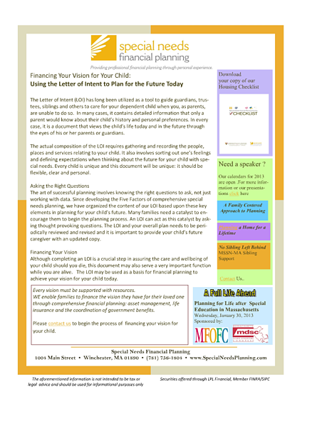 special_needs_financial_planning_newsletter