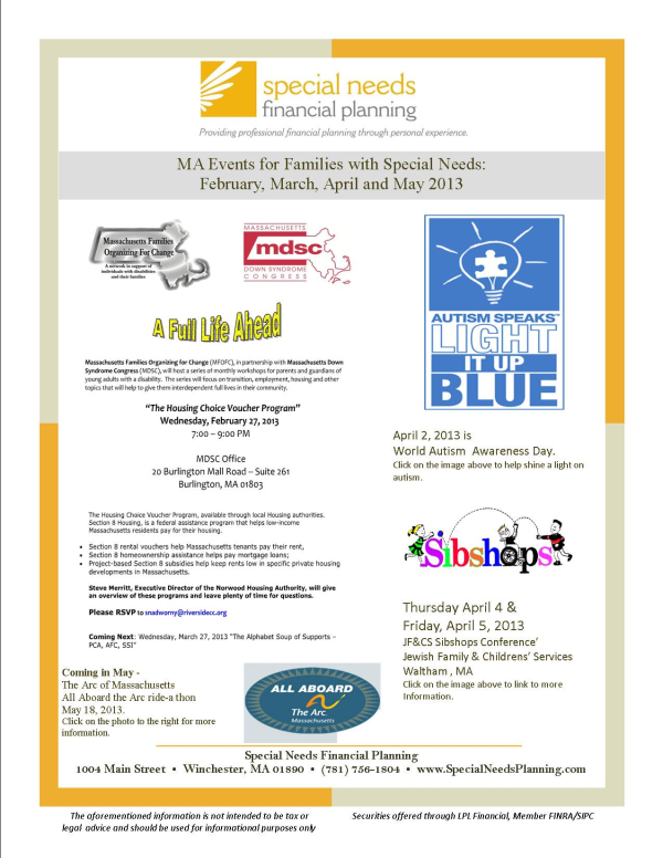 Events for Families With Special Needs February May 2013 resized 600