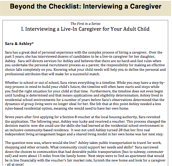 Interviewing a Caregiver I