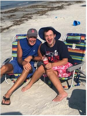 Ed and James at the beach