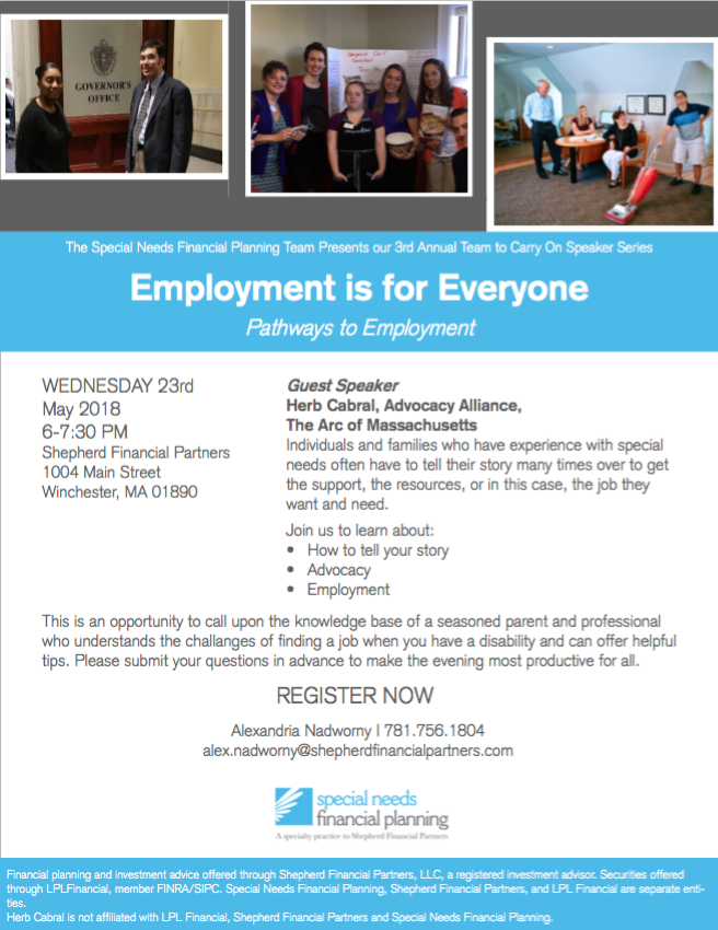 May 23rd Employment Presentation Flyer
